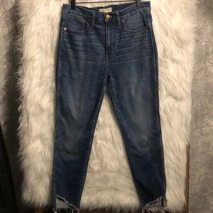 "Madewell Jeans - Madewell 10"" High Rise Skinny Jeans - Tulip Hem 30"